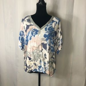 Women's Juicy Couture Tie Dyed Shirt V-Neck